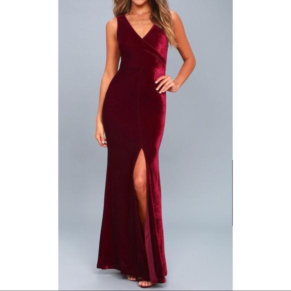de79f393b49 Lulu s Dresses   Skirts - Lulus crushin  it burgundy velvet maxi dress